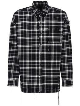 Двусторонняя Фланелевая Рубашка Mastermind World 72IJSL006-QkxBQ0s1