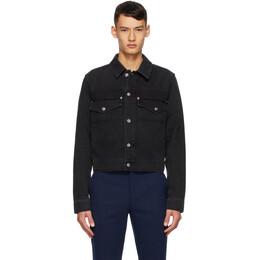 Kenzo Black Cotton Denim Jacket FA65DB5302ED