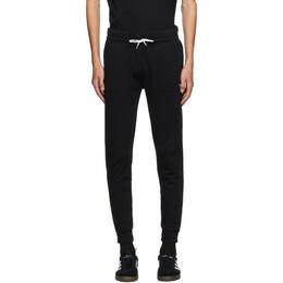 Maison Kitsune Black Tricolor Fox Classic Lounge Pants AM01300KM0001