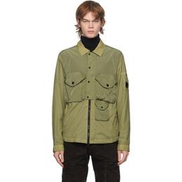 C.P. Company Green Nylon Jacket 09CMOS063A-005783G