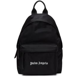 Palm Angels Black Nylon Logo Backpack PMNB008F20FAB0011001