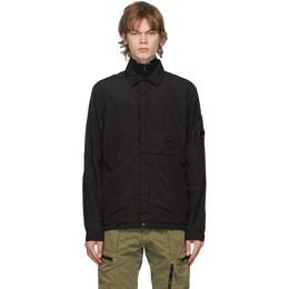 C.P. Company Black Nylon Jacket 09CMOS070A-005709G