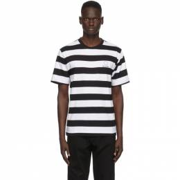 Etudes Black and White Striped Wonder T-Shirt E17B-414-50
