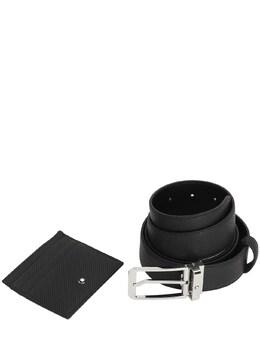 Кожаный Ремень И Кредитница Montblanc 72I0GA014-QkxBQ0s1