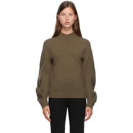 Low Classic Brown Whole Garment Raglan Turtleneck LOW20FW_KN15BR