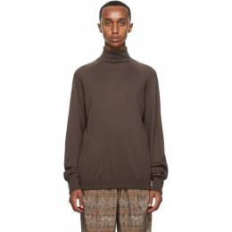 Lemaire Brown Wool Turtleneck M 203 KN191 LK105