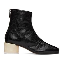 Mm6 Maison Margiela Black Circle Heel Boots S40WU0260 P3754