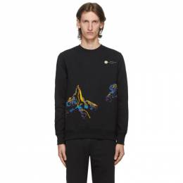 Ps by Paul Smith Black Embroidered Mountain Sketch Sweatshirt M2R-366SE-E20075