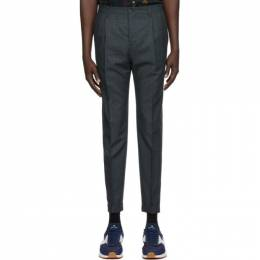 Ps by Paul Smith Navy Check Trousers M2R-373S-E20964