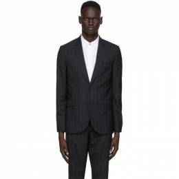 Ps by Paul Smith Navy and Green Check Blazer M2R-1712-E20951