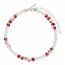 Shushu/Tong White and Red YVMIN Edition Big Pearl Blood Necklace aw19ac26