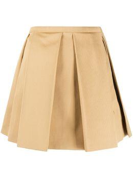 Courreges юбка А-силуэта со складками 120J070036
