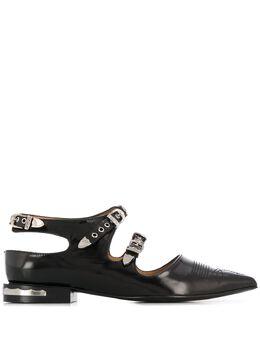 Toga Pulla туфли на плоской подошве с заостренным носком FTGPW104909021