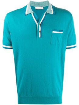 Etro рубашка поло с контрастными полосками 1M5099688