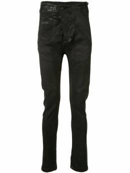 Boris Bidjan Saberi брюки скинни с низким шаговым швом P11F1939