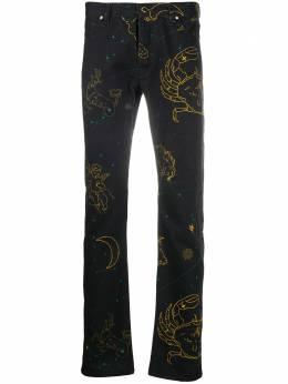 Casablanca джинсы прямого кроя с принтом MTR002