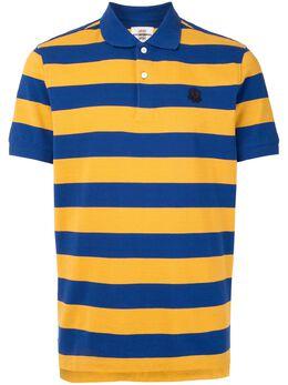 Kent & Curwen полосатая рубашка поло с нашивкой K4100058I055