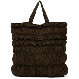 Molly Goddard Brown Kyoto Bumpy Tote Bag MGAW20-58