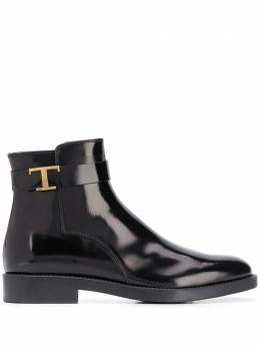 Tod's ботинки на молнии с металлическим логотипом XXW60C0DE10AKTB999