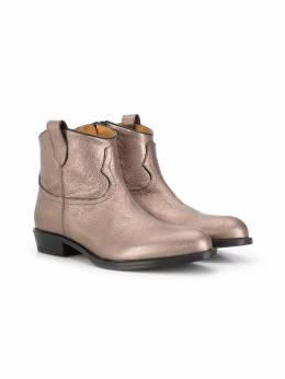 Gallucci Kids ботинки с эффектом металлик J30085AM