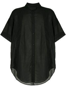 Julius удлиненная рубашка с воротником-стойкой 707SHM4
