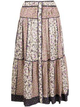 Ulla Johnson юбка Josephine с цветочным принтом PF200304