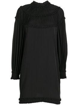 Fendi короткое платье-трапеция с плиссировкой FDA890A5Z5