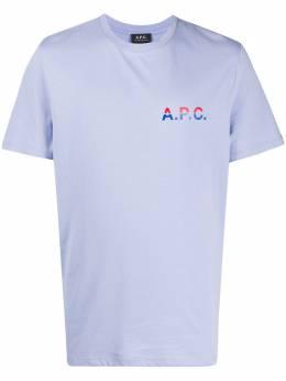 A.P.C. футболка с круглым вырезом и логотипом COEDAH26911