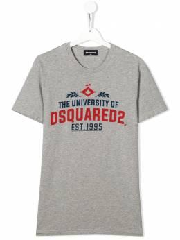 Dsquared2 Kids футболка с принтом University DQ0497D00YV