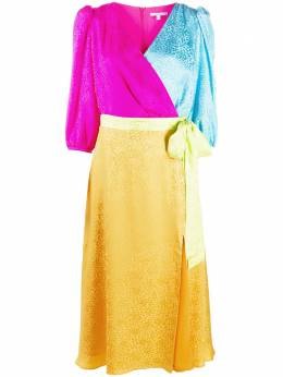 Olivia Rubin платье в стиле колор-блок с запахом и леопардовым принтом OR0414