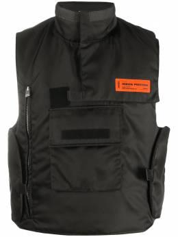 Heron Preston дутый жилет с карманами HMEA051F20FAB0031000