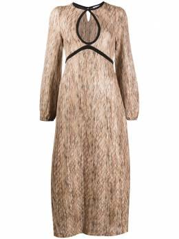 Rixo трикотажное платье миди Iris IRIS