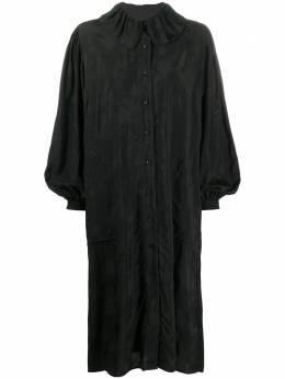 Uma Wang платье-рубашка оверсайз с длинными рукавами UP5002UW900