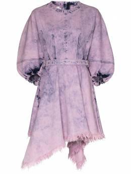 Marques'Almeida платье мини с объемными рукавами и асимметричным подолом PRE20DR0121DND