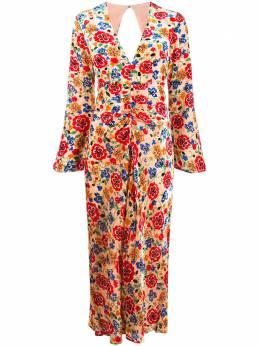 Rixo платье миди Mel с цветочным узором MEL