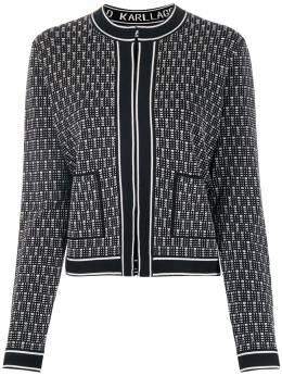 Karl Lagerfeld приталенный жакет вязки интарсия 205W2004998