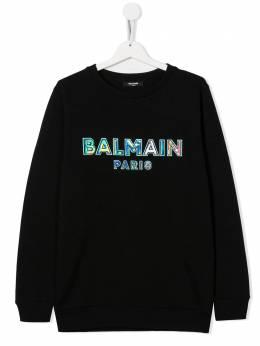 Balmain Kids свитер с логотипом 6N4580NX300