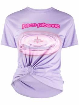 Paco Rabanne футболка со сборками и логотипом 20AJTE029C00378