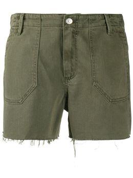 Paige джинсовые шорты с бахромой 5928C796338