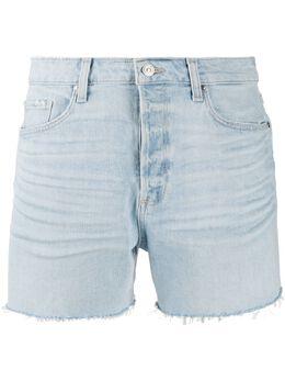 Paige джинсовые шорты с бахромой 60416358561