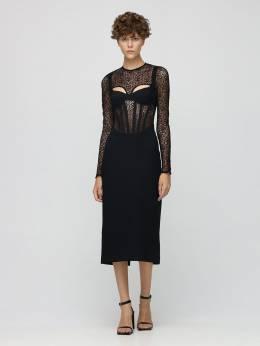 Corset Midi Dress Dion Lee 72IXYP004-QkxBQ0s1