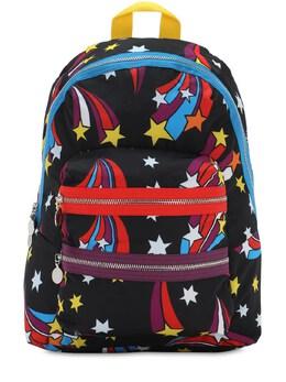 Рюкзак Из Нейлона С Принтом Stella McCartney Kids 72I6SI029-RzEwNA2