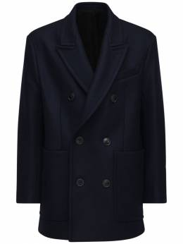 Wool Cloth Pea Coat Ami Alexandre Mattiussi 72I3J5029-NDEw0