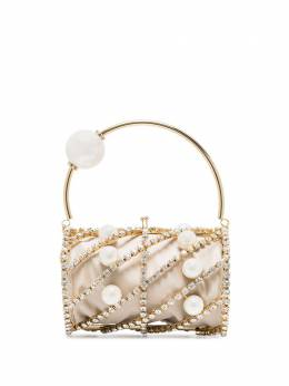 Rosantica каркасная сумка Brigitta с кристаллами B296ORPERTUB