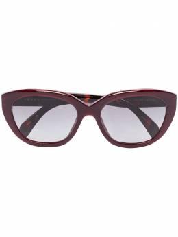 Prada Eyewear двухцветные очки в оправе 'кошачий глаз' 0PR16XS