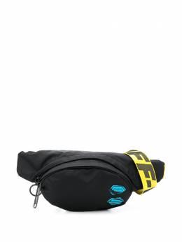 Off-White поясная сумка с нашивкой OMNA110E20FAB0011000