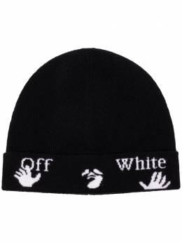 Off-White шапка бини с логотипом OWLA013E20KNI0011001