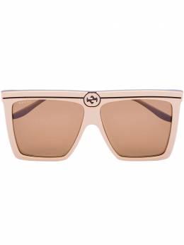 Gucci Eyewear солнцезащитные очки в массивной оправе GG0733S002