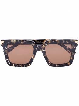 Bottega Veneta Eyewear солнцезащитные очки в квадратной оправе черепаховой расцветки BV1005S