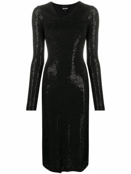 Just Cavalli embellished fitted dress S02CT1069N21511